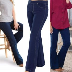 PAJAMA JEANS Dark Wash Sweatpant Jeans Size Large
